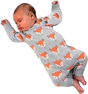 e00a457230492 Fulltime Mignon bébé Nouveau-né Fille Renard Imprimer Chaud Combinaison  vêtements