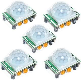 Oiyagai 5pcs HC-SR501 Human Body Pyroelectricity Infrared PIR Motion Detector Sensor Module