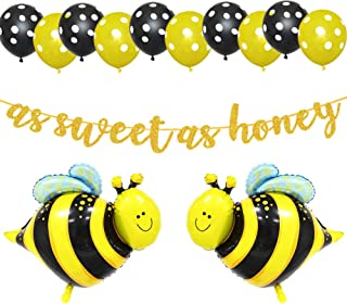 LetDec As Sweet As Honey Banner, Sweet As Can Bee Party Banner, Happy Bee Day/Bumblebee/Bumble Bee/Honey Comb Bee/Bee Beeh...