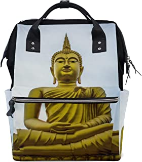 Golden Gautama Buddha Diaper Bags Nappy Backpacks Mummy Backpack Travel Laptop Daypack