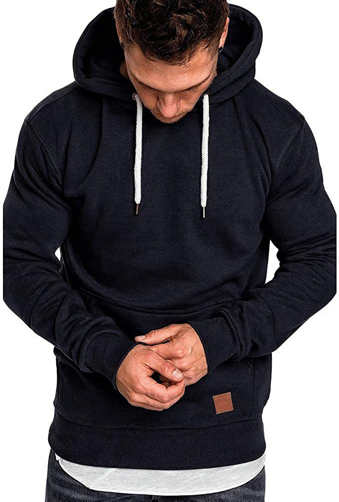 Men's Hoodie Pullover Camouflage Sweatshirt Workout Sports Sweater Casual Comfy Loose Long Sleeve Hoodies Tops