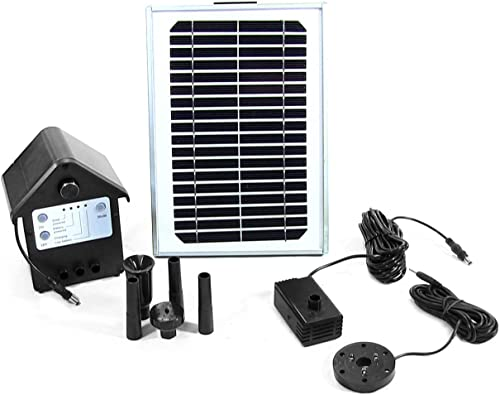 popular Sunnydaze 5W Solar Powered Water Pump and Panel Kit with Battery sale Pack and LED Light, 56-Inch Lift, sale Use for Outdoor Fountain, Bird Bath, or Pond sale