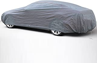 OxGord Economy Car Cover - 1 Layer Dust Cover - Lowest Price - Ready-Fit/Semi Glove Fit - Fits up to 180 Inches