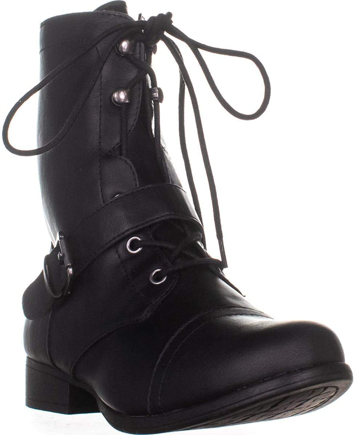 American Rag AR35 Farahh Lace-Up Combat Boots, Black