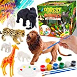 FunzBo Kids Crafts and Arts Set Painting Kit - Animal Toys Art and Craft Supplies Party Favors for Boys Girls Age 4 5 6 7 Years Old Kid Creativity DIY Gift Easter Paint Your Own Forest Animals Set