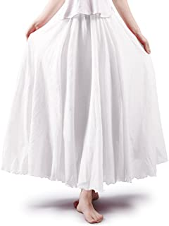 Women's Bohemian Elastic Waist Flowing Maxi Skirt