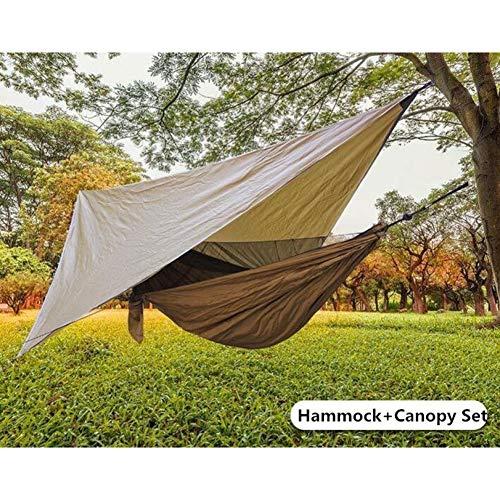 DCKJL hangmat Outdoor Anti-muskietennet Hangmat+Canoy Set Dubbel Gebruik Draagbare Camping Luifel Tent Voor 1-2 Mensen Slapen Hangende Stoel