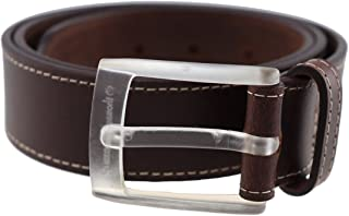 Men's Metal Free Quartz Buckle Highliner Leather Dress Belt Made in the USA by Thomas Bates