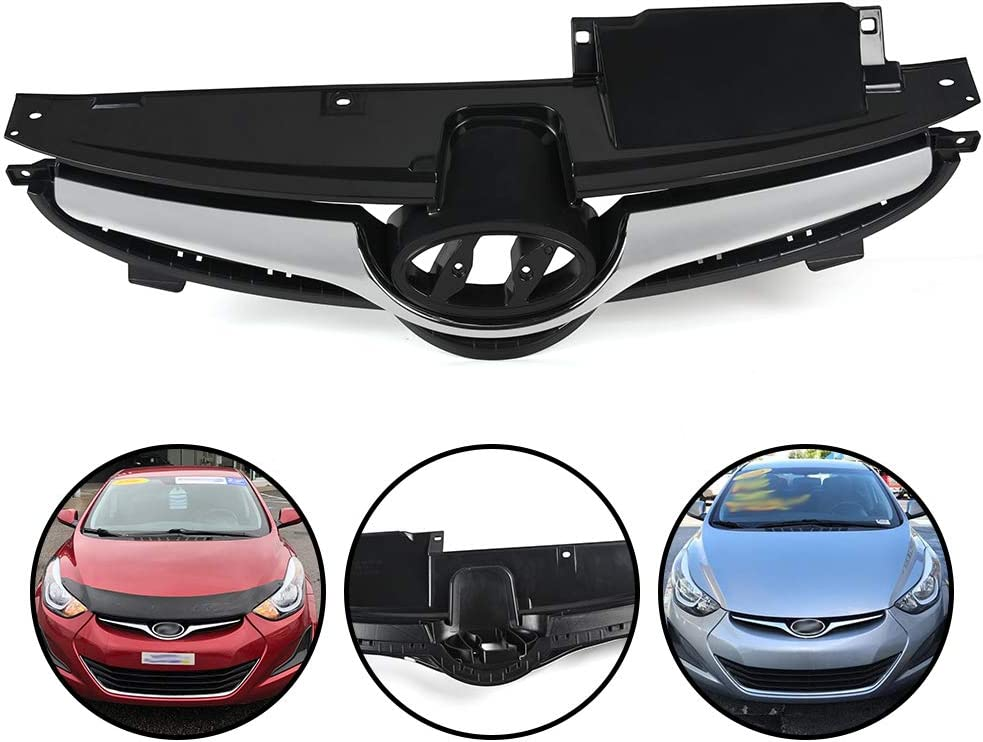 Compatible For Hyundai Elantra 2014 2016 Front Black 授与 2015 Chrome 評価