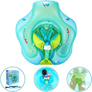 Anti-Slip Baby Swimming Float Ring for Pool, Toddler Floaties Accessories for The Age of 3 Months-6 Years (S, B1027)