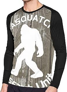 EC98TCE Sasquatch Research Unit Long Sleeve T-Shirt Round Neck Tee Shirts Adolescent T Shirts