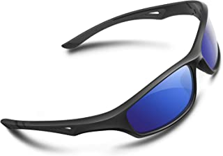 c6870ba3df6 RIVBOS Polarized Sports Sunglasses Driving Glasses Shades for Men TR90  Unbreakable Frame for Cycling Baseball RB831