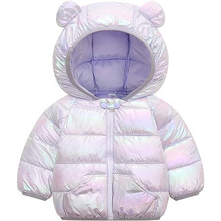Bebé Invierno Chaqueta Abrigo con Capucha Infantil Otoño Cálido Ligero Acolchado Prueba de Viento Trajes PúRpura 3-4 Años