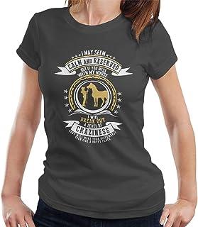 RHEYJQA If You Mess with My Horse Women's T-Shirt