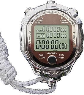 Stoppur och Timer, digital professionell handhållen LCD kronograf sport stoppur för tränare fitness match (färg: Som visas...