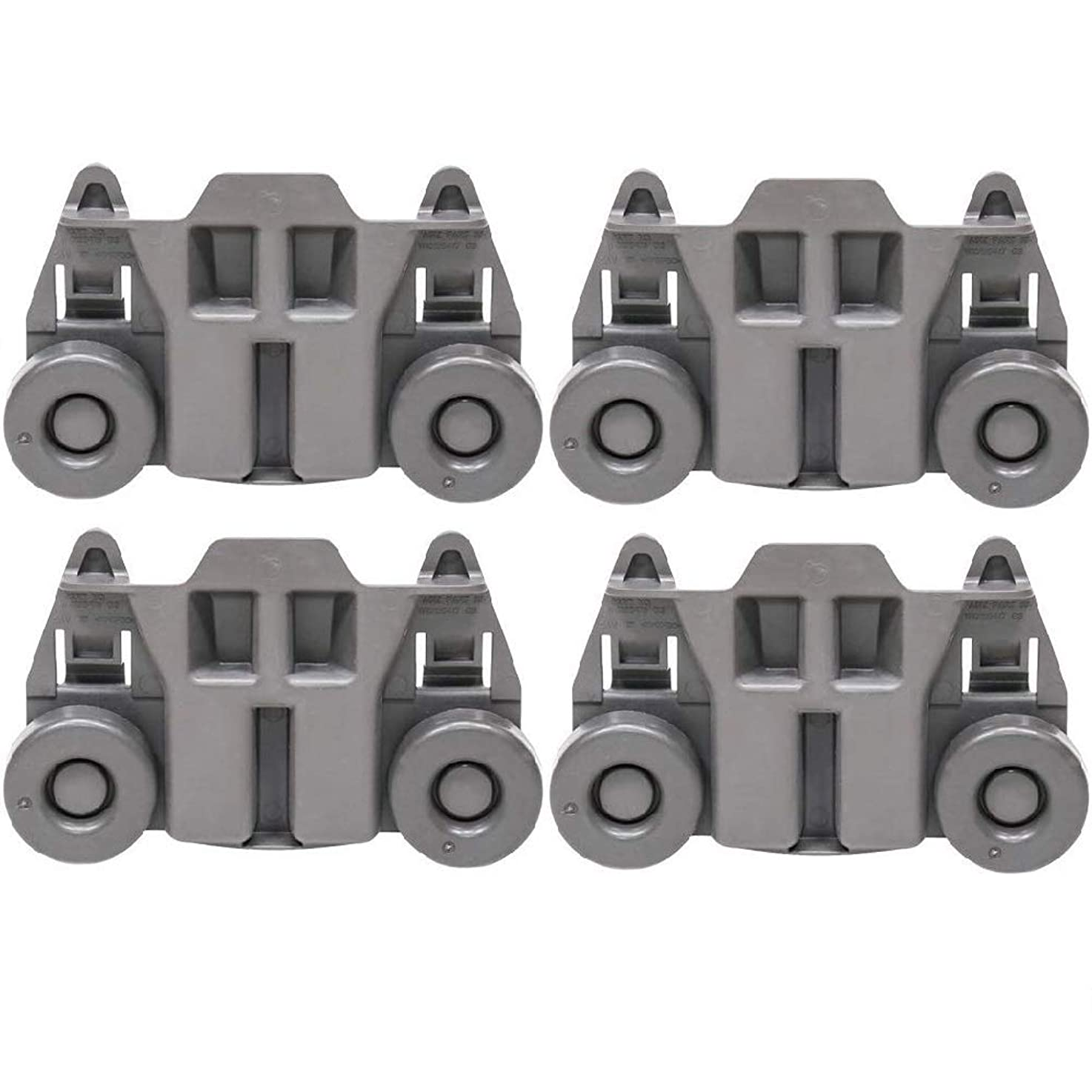 Odowalker Pack of 4 Dishwasher Premium Wheels Lower Rack for Kenmore Elite Dishwasher Parts W10195417 Kitchen Aid Dishwasher caqpmeoxsfvfc7