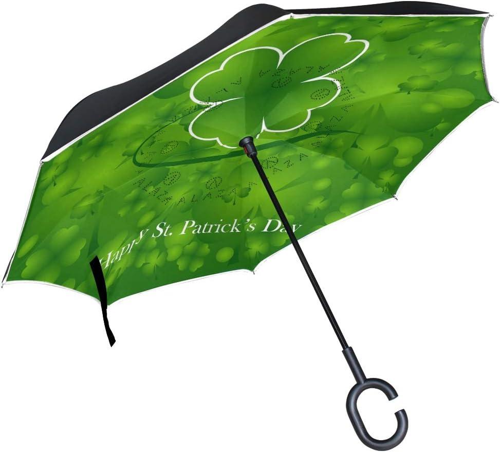 Wamika Happy St Patrick's Day Shamrock Rev Floral Green Nashville-Davidson Mall Soldering Umbrella
