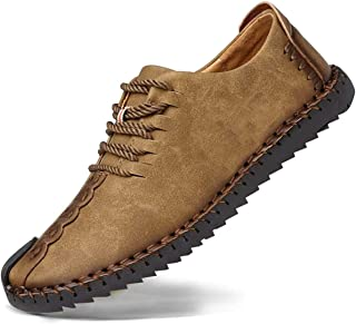 Zapatos de cuero casual de los hombres Zapatos Planos con Cordones hombre Oxford vestido mocasines zapatos de negocios hec...