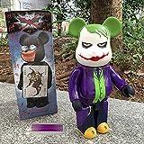 JXINGY 28cm Anime The Joker Bear Brick Figura de Acción Bears Cos The Joker Brick Doll PVC Figura de...