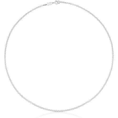 TOUS Collar Mujer, Gargantilla en plata de Primera Ley - Largo 45 cm Título