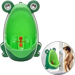 Froggy Potty Training Urinal, Toddler Boy Standing Urinal Potty Training Flush Portable Toilet for Little Boys