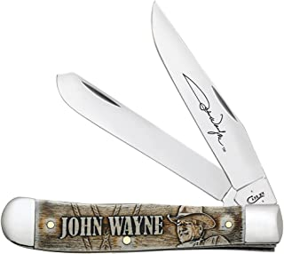 Case Natural Bone John Wayne Trapper Pocket Knife