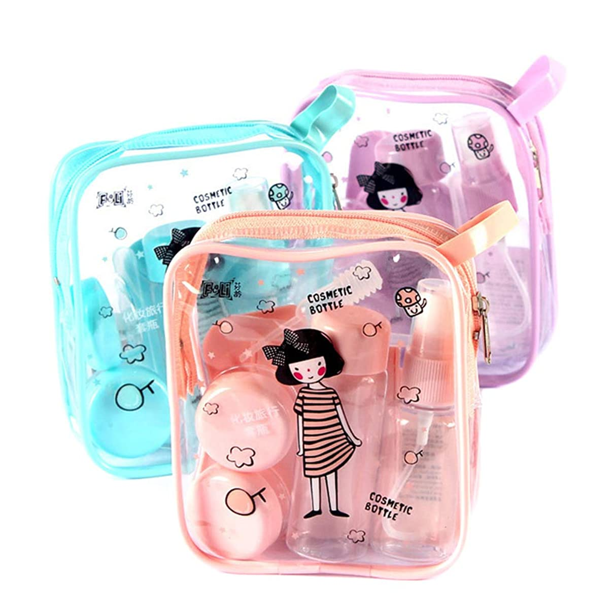 BTFirst 8個/ミニプラスチック化粧品容器透明空ボトル旅行