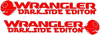For Jeep Wrangler Star wars Darkside Edition Car Truck Vinyl Hood Decal Sticker (RED)