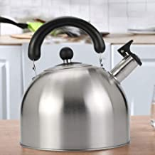 Kettle 6L Large Capacitymodern Whistling Stovetop, Thicken, 304 Stainless Steel Teapot, Anti-scalding Handle Home Camping