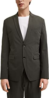 ESPRIT Collection Men's 021eo2g312 Blazer, 355/Dark Khaki, 34R