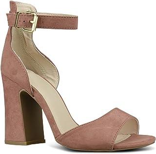 a08523ff573666 Premier Standard Women s Sling Back Ankle Strap - Strappy Adorable Low  Block Heel Shoe