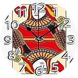 AZHOULIULIU Co.,ltd Naipes Diseño de Casino Juego de apuestas Póquer Blackjack Vermilion Amarillo Blanco Reloj silencioso