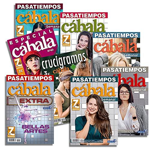 DataPrice Pack de 8 Libros de Pasatiempos Cábala. Crucigramas para Adultos Variados. - Ed. Zugarto -.