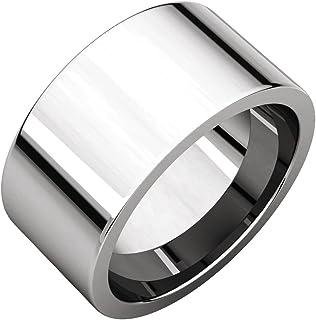 FB جواهر 925 الفضة الاسترليني 10 مم شقة الراحة صالح الرجال خاتم الزفاف الفرقة