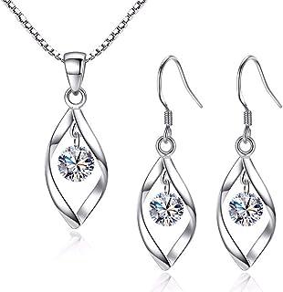 Beydodo Long Earrings Chandelier Earrings for Wedding Bridesmaids Teardrop Round Cut Cubic Zirconia