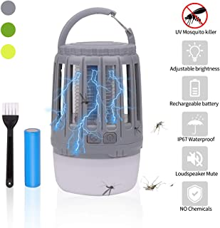 Sukeen Camping Lantern LED Flashlight Bug Zapper - Dimmable USB Rechargeable for Home,Camping,Hiking,Fishing,Emergency (Gary)