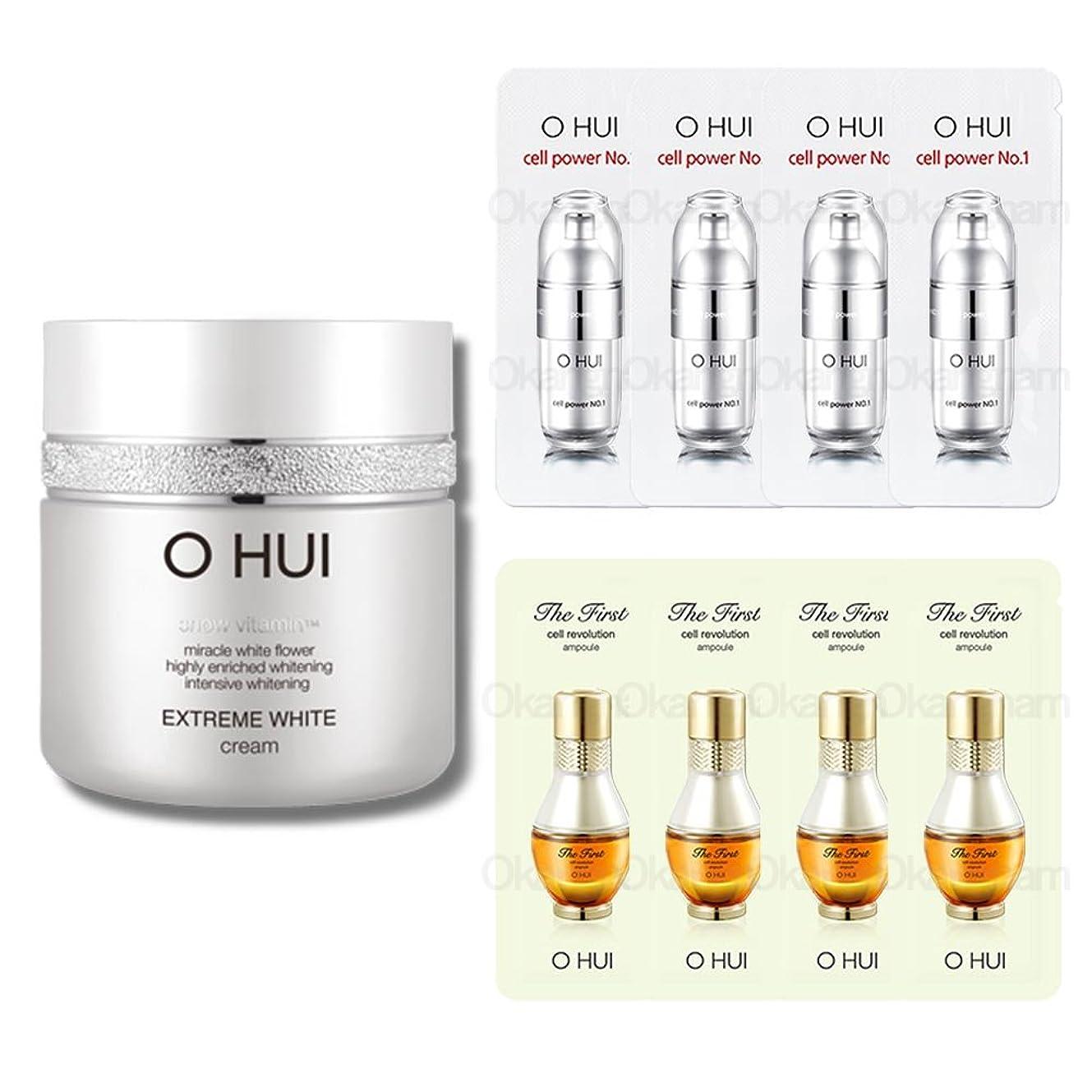 もろい縁石熱[オフィ/ O HUI]韓国化粧品 LG生活健康/ OHUI OEW04 EXTREME WHITE CREAM/オフィ エクストリーム ホワイトクリーム 50ml +[Sample Gift](海外直送品)