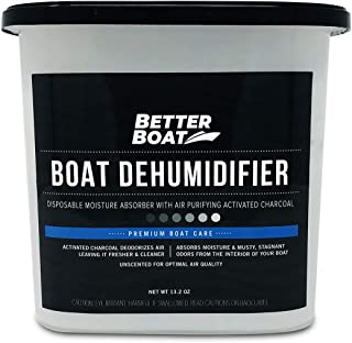 Boat Dehumidifier Moisture Absorber and Charcoal Deodorizer Remove Damp Musty Mold Smell | Basement Closet Home RV or Boating