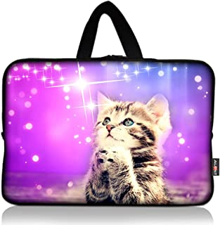 AUPET Cute Wish Cat Universal 7~8 inch Tablet Portable Neoprene Zipper Carrying Sleeve Case Bag