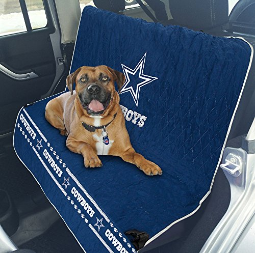 NFL CAR SEAT COVER - DALLAS COWBOYS Waterproof, Non-slip BEST Football LICENSED PET SEAT cover for DOGS & CATS.