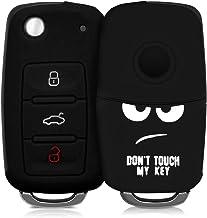 kwmobile Funda Compatible con Llave de 3 Botones para Coche VW Skoda Seat - Carcasa Protectora Suave de Silicona - Don't Touch my Key