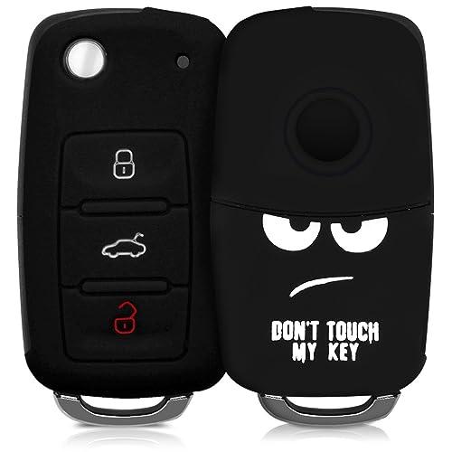kwmobile Funda para Llave de 3 Botones para Coche VW Skoda Seat - Carcasa Protectora [