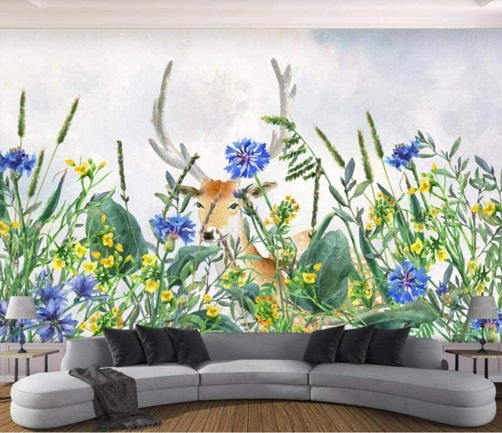 Pwmunf 3D Wallpaper Moose Flowers and ...