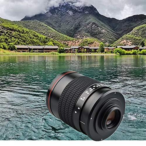 Lente de espejo F6.3 de 500 mm de enfoque fijo manual con anillo adaptador T2 para cámaras Pentax K K-x K-r K-01 K-30 K20D K200D K2000 K1000 K100D Super K110D y otros para cámaras Pentax SLRs