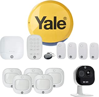 Yale All-in-One Smart Home 14 Piece Security Bundle, IA-320 Sync Wireless Alarm,PIR Motion Detectors and Window/Door Senso...