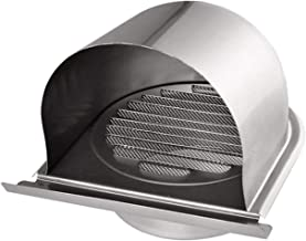Acero Inoxidable Salida de Aire de la Cubierta Rejilla de ventilación Cubierta de Conductos Pared del hogar de Techo difusor de Escape de alimentación for Baño Oficina ventilación de Cocina,100mm