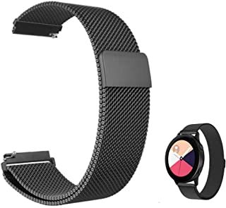 FOOKANN Stainless Steel Watch Band Metal Strap for Samsung Galaxy Watch Active 2 44mm 40mm (Black)