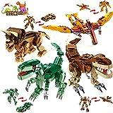 Juguetes de construcción de dinosaurio para niños: 979 piezas Juego de construcción 12 modelos para niños de 5 6 7 8 9 10 11 12 años Figuras T-REX Bloques de Kits de regalos para fiesta de cumpleaños