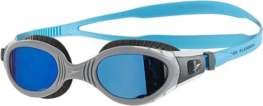 Speedo 8-11316C110 Unisex Adult Futura Biofuse Flexiseal Mirror Swimming Goggles - Usa Charcoal/Grey/Blue Mirror, One Size