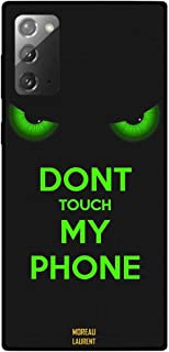 Samsung Galaxy Note 20G Protective Case Cover Don't Touch My Phone Green Eyes